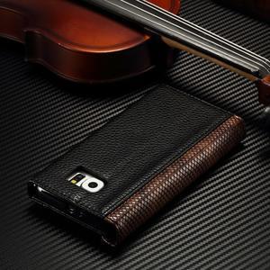 Breck peněženkové pouzdro na Samsung Galaxy S6 - černé/hnědé - 4