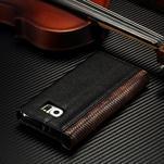 Breck peněženkové pouzdro na Samsung Galaxy S6 - černé/hnědé - 4/4
