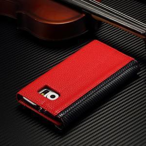 Breck peněženkové pouzdro na Samsung Galaxy S6 - červené/černé - 4
