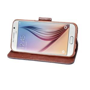 Cloth peněženkové pouzdro pro Samsung Galaxy S6 - černé - 4