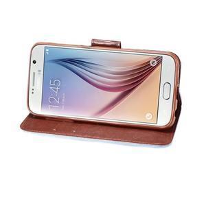 Cloth peněženkové pouzdro pro Samsung Galaxy S6 - světlemodré - 4