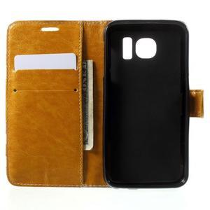 Módní stylové pouzdro na Samsung Galaxy S6 - oranžové - 4