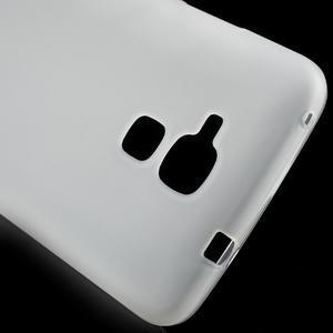 Matný gelový obal na mobil Honor 7 Lite - bílý - 4