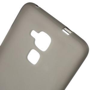 Matný gelový obal na mobil Honor 7 Lite - šedý - 4
