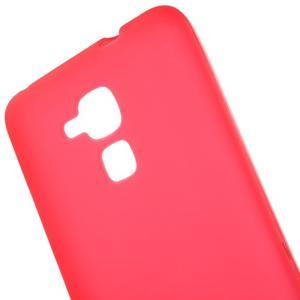 Matný gelový obal na mobil Honor 7 Lite - červený - 4