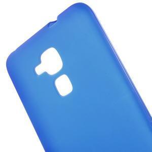 Matný gelový obal na mobil Honor 7 Lite - modrý - 4