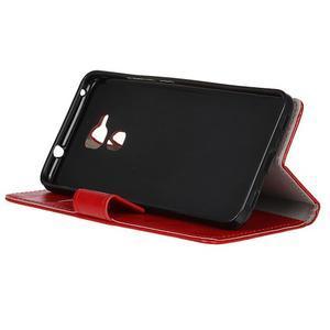 Horse PU kožené pouzdro na mobil Honor 7 Lite - červené - 4
