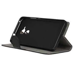 Peněženkové PU kožené pouzdro na mobil Honor 7 Lite - černé - 4