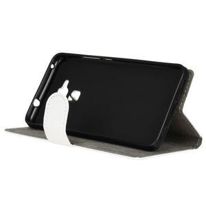 Peněženkové PU kožené pouzdro na mobil Honor 7 Lite - bílé - 4
