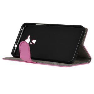 Peněženkové PU kožené pouzdro na mobil Honor 7 Lite - rose - 4