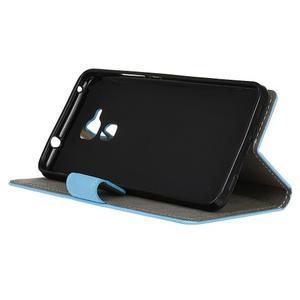 Peněženkové PU kožené pouzdro na mobil Honor 7 Lite - modré - 4