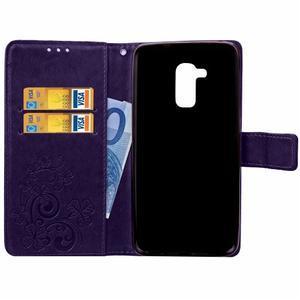 Buttefly PU kožené pouzdro na mobil Honor 7 Lite  - fialové - 4