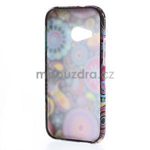 Gelový kryt na HTC One mini 2 - barevné kruhy - 4