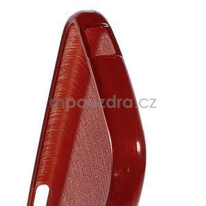 Broušený gelový obal na HTC One mini 2 - červený - 4
