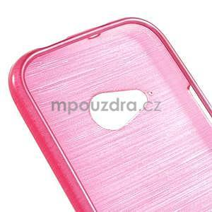 Broušený gelový obal na HTC One mini 2 - rose - 4