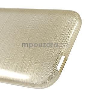 Broušený gelový obal na HTC One mini 2 - champagne - 4