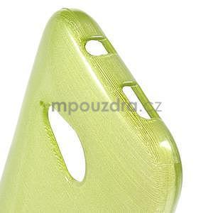 Broušený gelový obal na HTC One mini 2 - zelený - 4