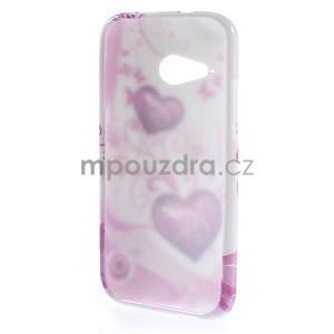 Gelový kryt na HTC One mini 2 - srdíčka - 4