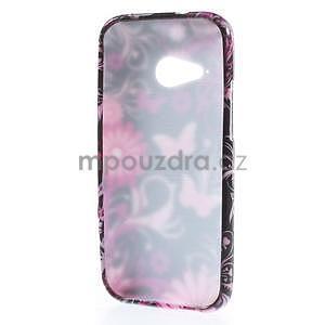 Gelový kryt na HTC One mini 2 - květiny a motýlci - 4