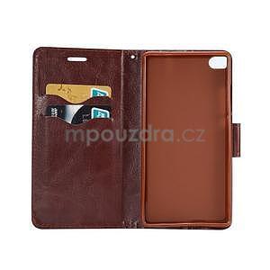 Stylové peněženkové pouzdro Jeans na Huawei Ascend P8 - tmavě modré - 4