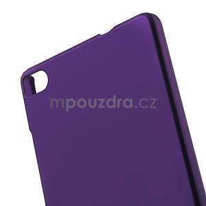 Plastový pogumovaný obal na Huawei Ascend P8 - fialový - 4