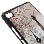 Gelový kryt s koženými zády na Huawei Ascend P8 - Eiffelova věž - 4/5