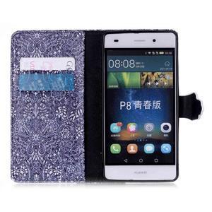 Pouzdro na mobil Huawei P8 Lite - textury květin - 4
