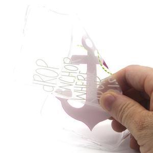 Transparentní gelový obal na Huawei Ascend P8 Lite - kotva - 4