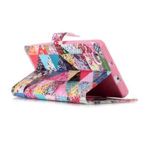 Pouzdro na mobil Huawei P8 Lite - koláž trojúhelníčků - 4