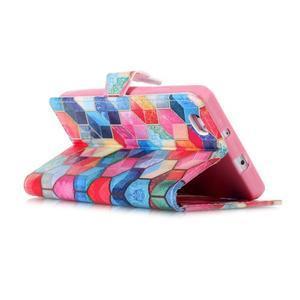 Pouzdro na mobil Huawei P8 Lite - barevné hexagony - 4