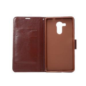 Jeans PU kožené pouzdro na mobil Huawei Mate 8 - černomodré - 4