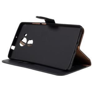 Clothy PU kožené pouzdro na Huawei Mate 8 - černé - 4