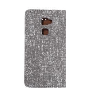 Style knížkové pouzdro na mobil Huawei Mate S - šedé - 4