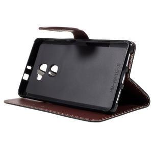 Knížkové PU kožené pouzdro na mobil Huawei Mate S - černé - 4