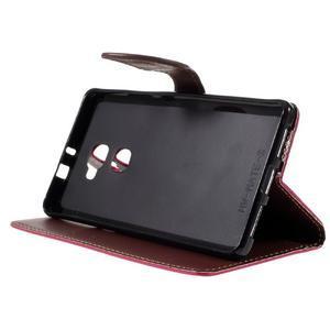 Knížkové PU kožené pouzdro na mobil Huawei Mate S - rose - 4