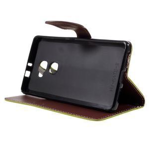 Knížkové PU kožené pouzdro na mobil Huawei Mate S - zelené - 4