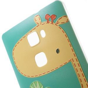 Softy gelový obal na mobil Huawei Mate S - žirafa - 4