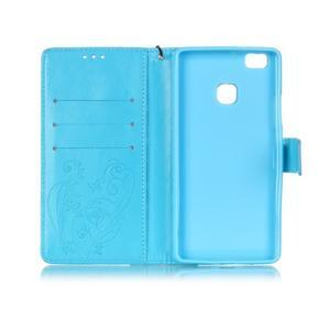 Magicfly knížkové pouzdro na telefon Huawei P9 Lite - světlemodré - 4