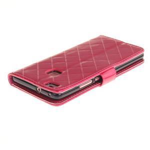 Luxury PU kožené peněženkové pouzdro na Huawei P9 Lite - rose - 4