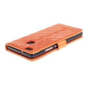 Luxury PU kožené peněženkové pouzdro na Huawei P9 Lite - oranžové - 4