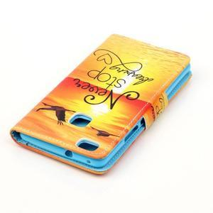 Patter PU kožené pouzdro na mobil Huawei P9 Lite - nepřestávej snít - 4