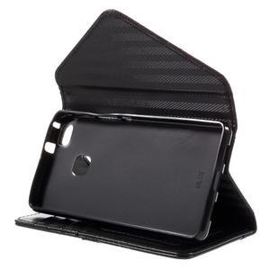 Peněženkové pouzdro na mobil Huawei P9 Lite - hnědé/černé - 4