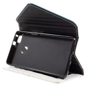 Peněženkové pouzdro na mobil Huawei P9 Lite - modrozelené/bílé - 4