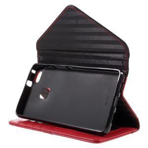 Peněženkové pouzdro na mobil Huawei P9 Lite - černé/červené - 4