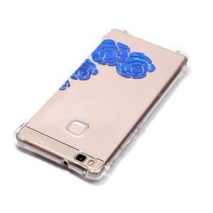 Lacqe gelový obal na Huawei P9 Lite - modré růže - 4