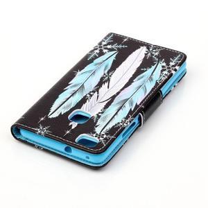 Patter PU kožené pouzdro na mobil Huawei P9 Lite - peříčka - 4