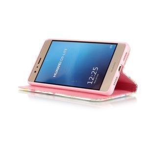 Knížkové PU kožené pouzdro na Huawei P9 Lite - medvídek - 4