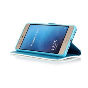 Knížkové PU kožené pouzdro na Huawei P9 Lite - motýlci - 4