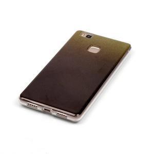 Gradient třpytivý gelový obal na Huawei P9 Lite - černý - 4