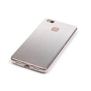 Gradient třpytivý gelový obal na Huawei P9 Lite - šedý - 4